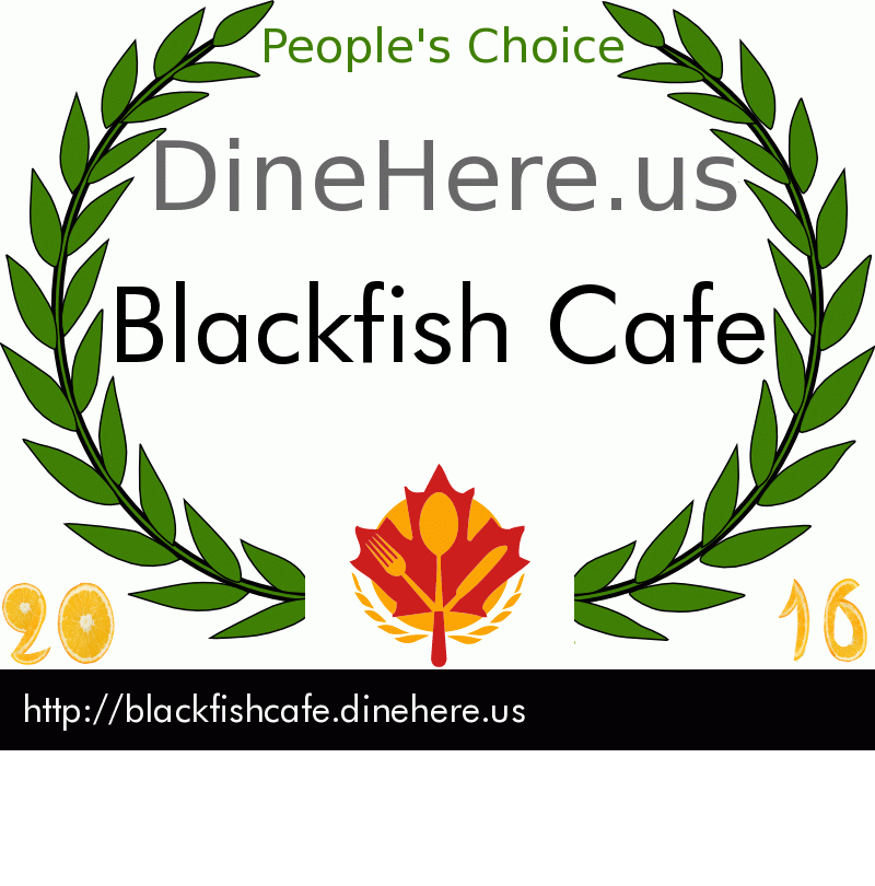 Blackfish Cafe DineHere.us 2016 Award Winner