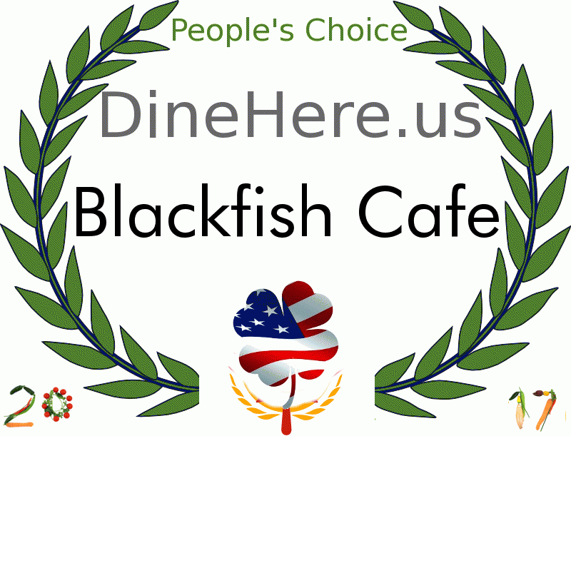 Blackfish Cafe DineHere.us 2017 Award Winner
